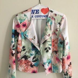 Piperlime Floral Bomber Jacket
